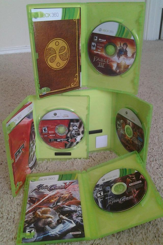 4 XBOX360 Games Large Photo
