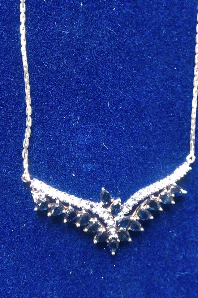 Sapphire & Diamond Necklace Large Photo