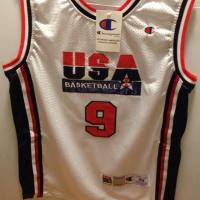 Michael Jordan White Olympics jersey BRAND NEW and VERYC CHEAP!! Photo