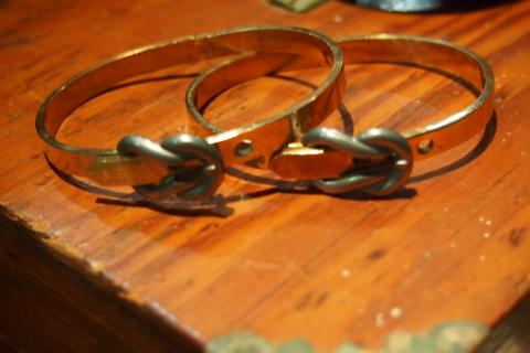 Vintage Brass Buckle Bracelet Photo
