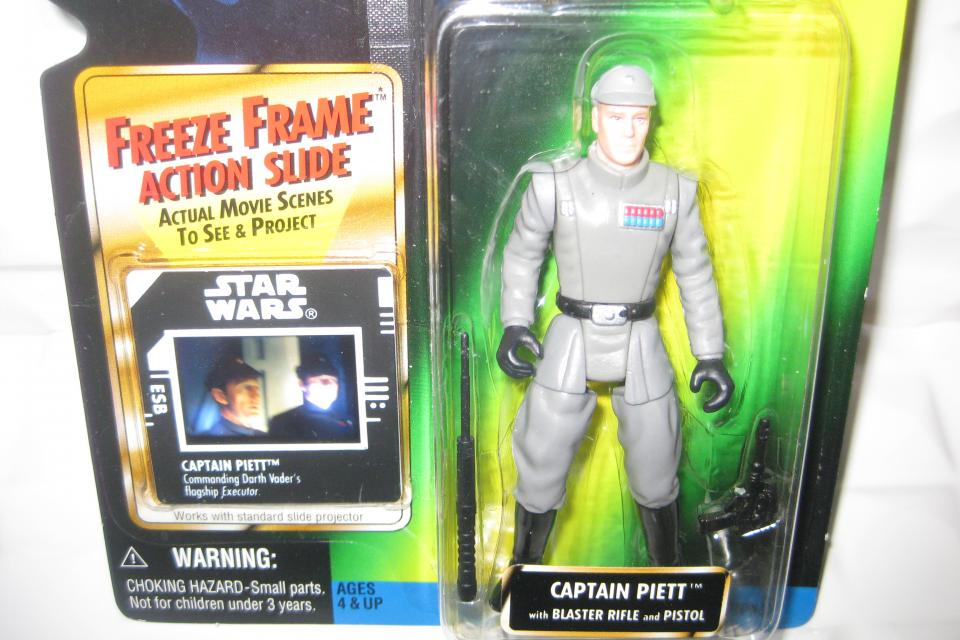 NEW Star Wars Saga Power of the Force 2 Empire Strikes Back Freeze Frame Captain Piett Large Photo