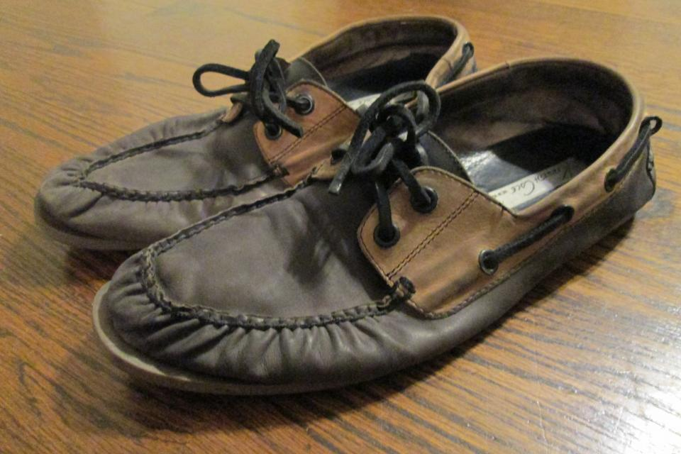 Kenneth Cole New York 2 Tone Leather Boat Shoes, Moccasins, Men, Size 10 Large Photo