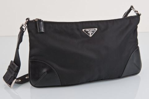 Black Prada Nylon Leather Photo