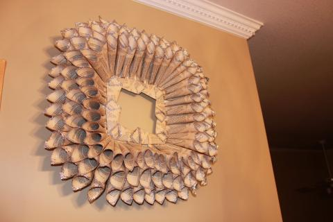 Triple Row Square Book Page Wreath Photo