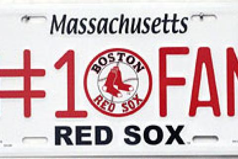 RED SOX #1 FAN LICENSE PLATE Photo