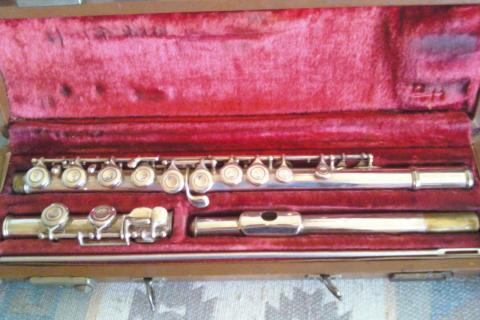 Silver plated Artley 1956 Flute Photo