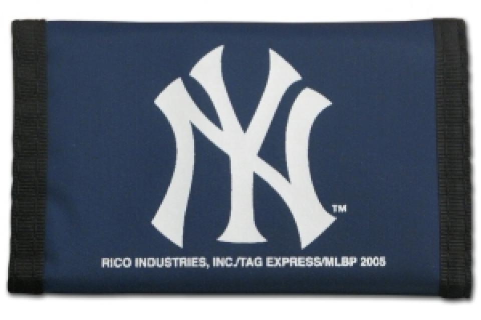 New York Yankees Nylon Trifold Wallet Large Photo