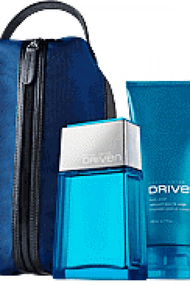 Derek Jeter Driven 3-piece Set - Eau De Toilette Spray 2.5 Fl. Oz. - Body Wash 6.7 Fl. Oz. - Men's Travel Dopp Kit  Photo