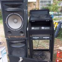 dj stand, speakers Photo