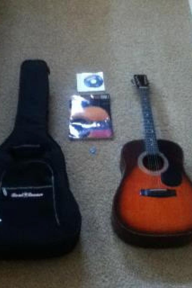 Harmony Acoustic Guitar With Extras! Great Deal! Photo