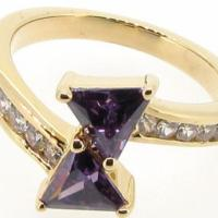 Amethyst Color 14k yellow gold filled ring size 8 Free Shipping Photo