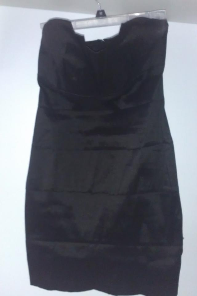 Black Hot Skin Tight Dress Size 6 NWOT Large Photo
