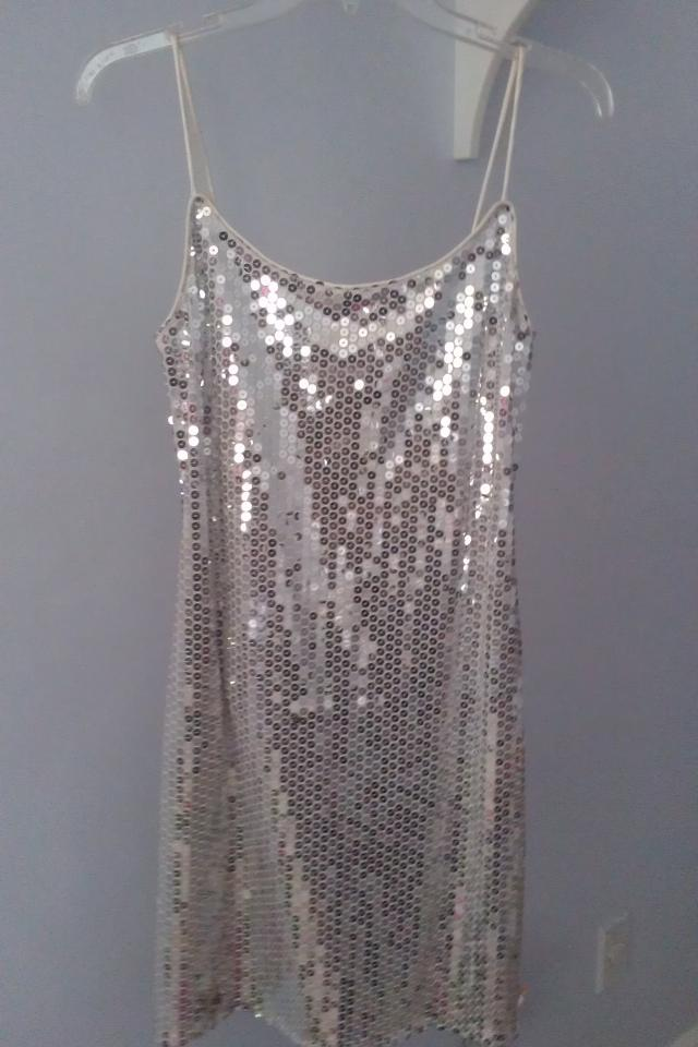 Silver Sequin Dress Size 5/6 Large Photo