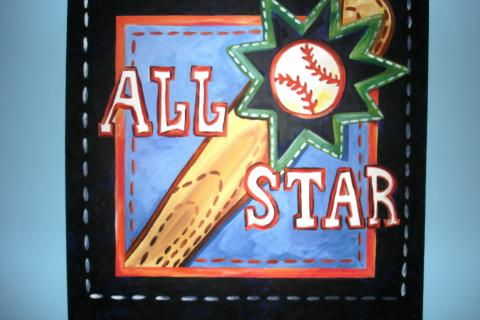 ALL STAR Theme original acrylic painting Photo