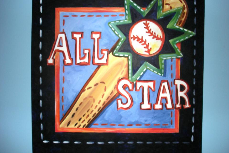 ALL STAR Theme original acrylic painting Large Photo