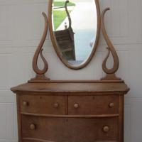 Birdseye Maple Dresser with Mirror  Photo