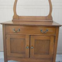 Antique Walnut Wash Stand Photo