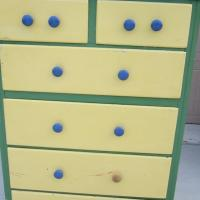Solid wood painted dresser 1940s Photo