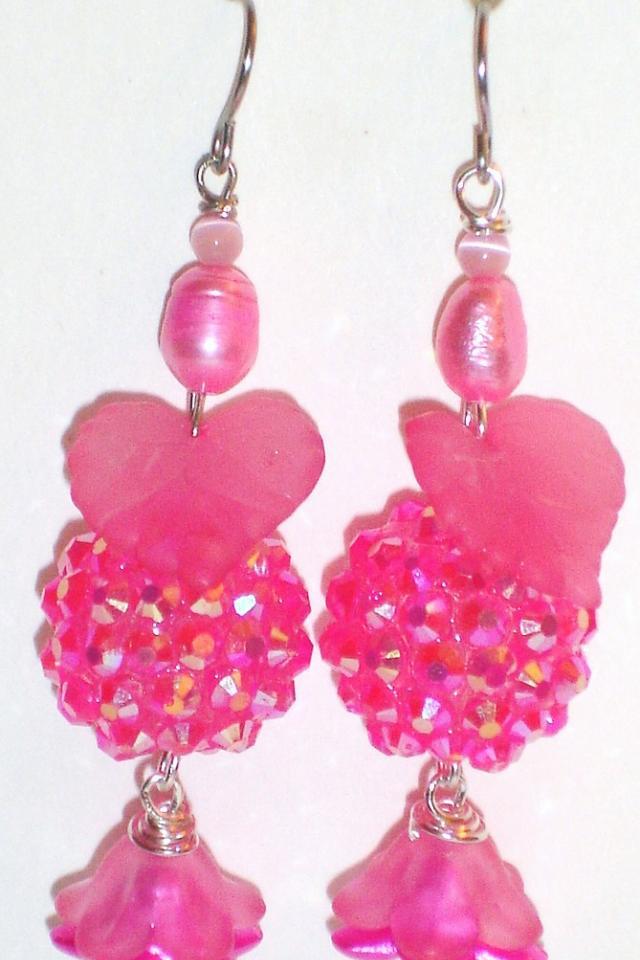 'Pixie Party- Bubblegum' Artisan Earrings Photo