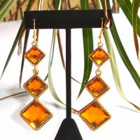 Vintage Style drop copper and gold colored earrings Photo