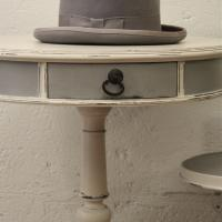 Hollywood Regency Table Hand Painted Distressed Photo