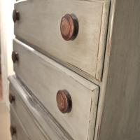Antique Dresser 1940 Butlers Desk Hand Painted Photo