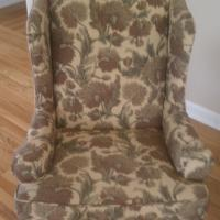 Wingback Chair with Thistle Upholstery Photo