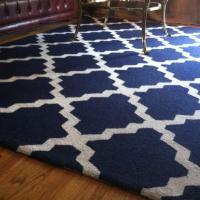 Moroccon Style Rug Blue/White 5 x 8 ft Photo