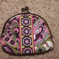 Authentic Vera Bradley Double Kiss Lock Change Purse NEW Photo