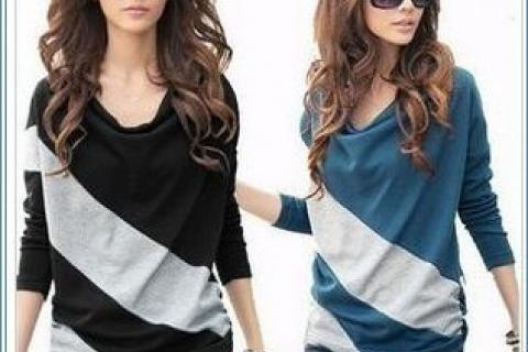 Fashion Womens Casual Slim Bat Dolman Long Sleeve T-Shirts Tops Blouses Photo