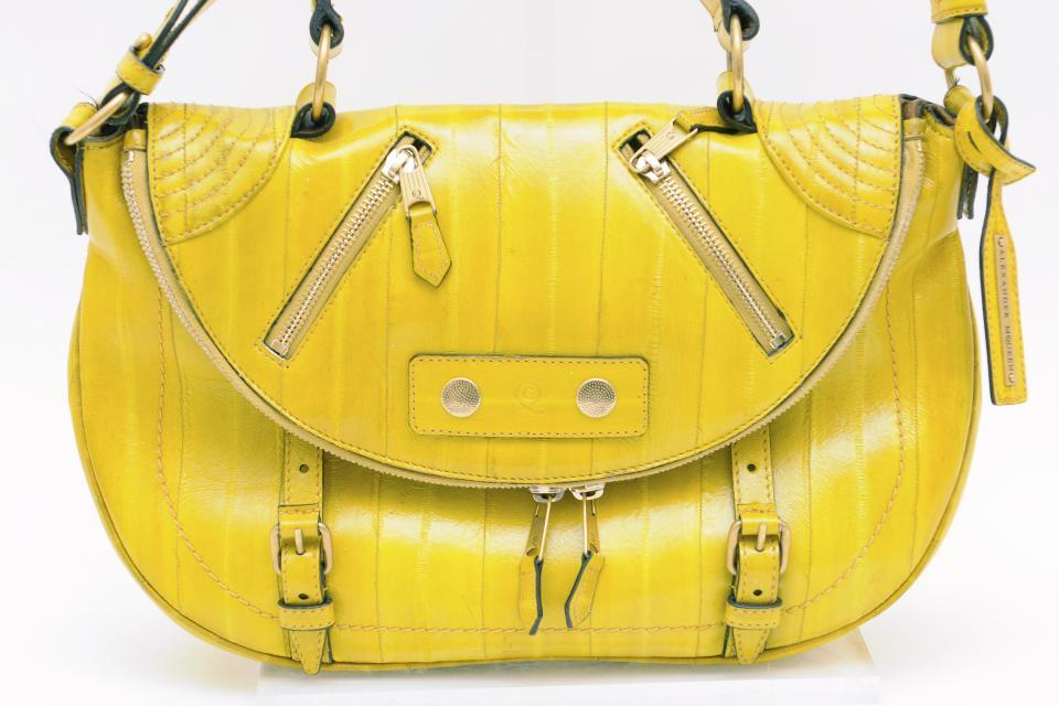 Alexander McQueen Yellow Leather