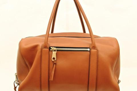 Chloe Nutmeg Lambskin Leather Top Handle Duffle Bag Photo