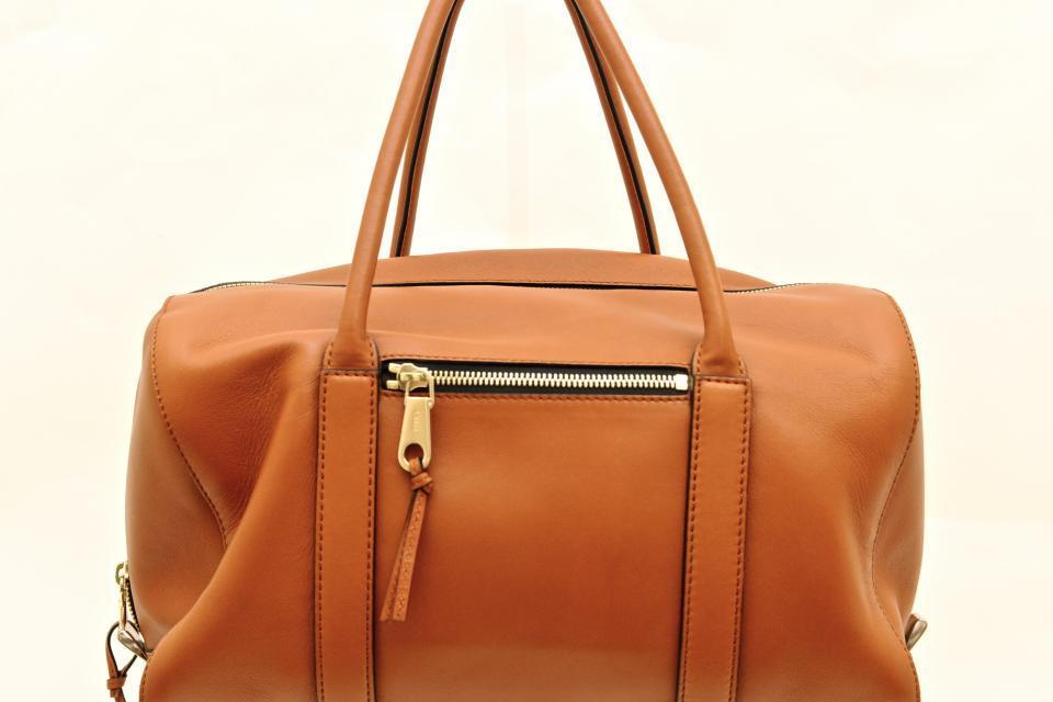 Chloe Nutmeg Lambskin Leather Top Handle Duffle Bag Large Photo