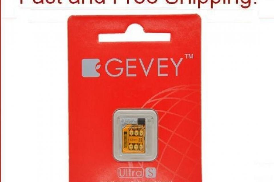 GENUINE iOS 5.1 Gevey Ultra S Turbo Sim Unlocked For GSM iPhone 4S 4GS 5.0 5.1.1 Large Photo
