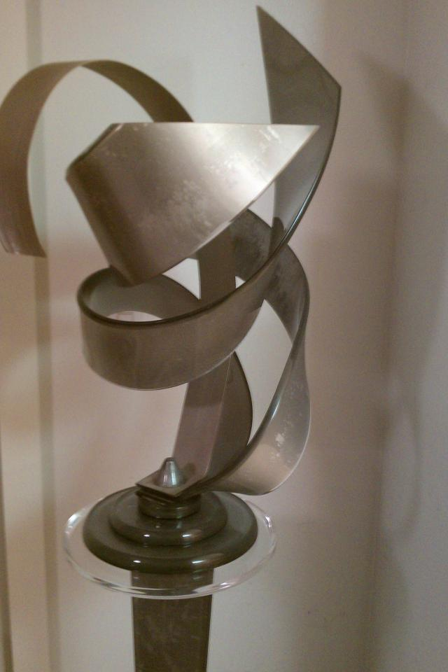 An Original Acrylic Sculpture with Stand Photo