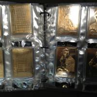 22kt gold baseball card collection Photo