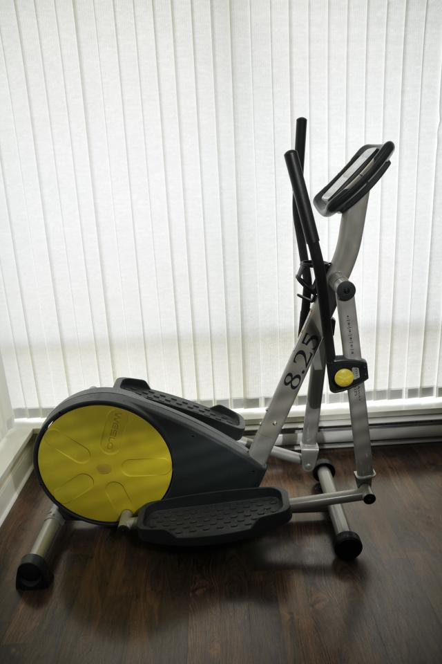 Used Weslo 8.25 elliptical exercising machine with receipt and manual. Photo