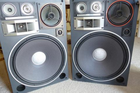 KENWOOD KL-999X 5 WAY SPEAKERS - WORKING PAIR Photo