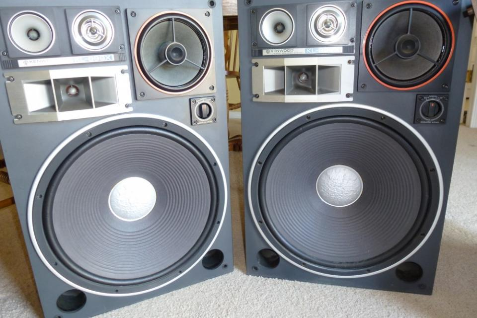 KENWOOD KL-999X 5 WAY SPEAKERS - WORKING PAIR Large Photo