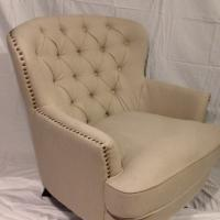 Studded Fabric Club Chair Photo