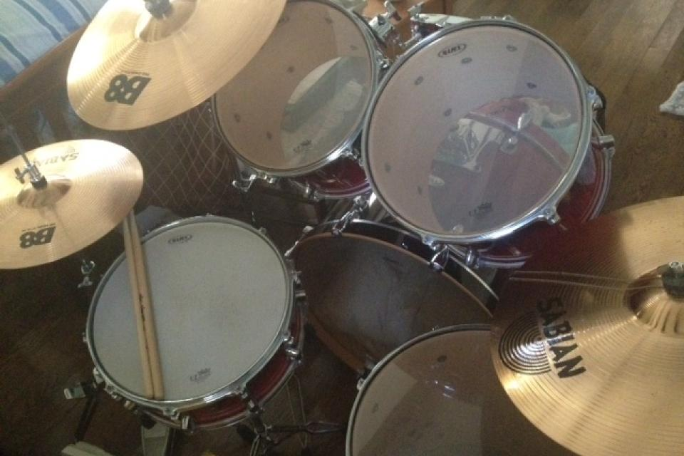 Fully Complete Mapex Drumset, Includes all drums, cymbals, and hardware Large Photo