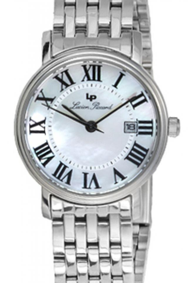 Lucien Piccard Mother of Pearl Dial Japan Movement Calendar Stainless Photo