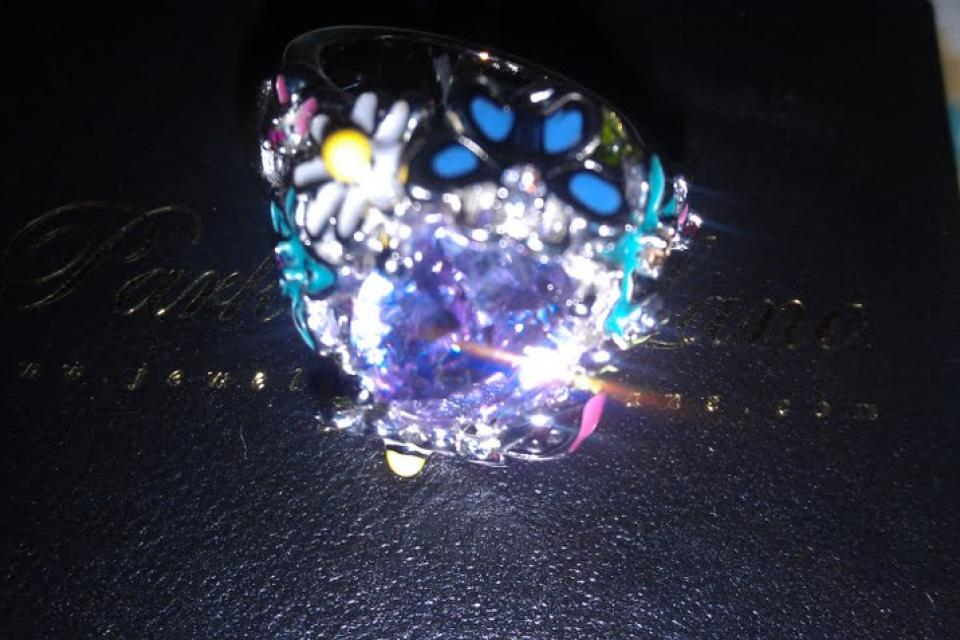 Free Shipping! ♥Park Lane Purple Dazzling Ring! Large Photo