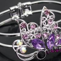 Free Shipping Beautiful Butterfly Austria Crystal Bracelet Photo