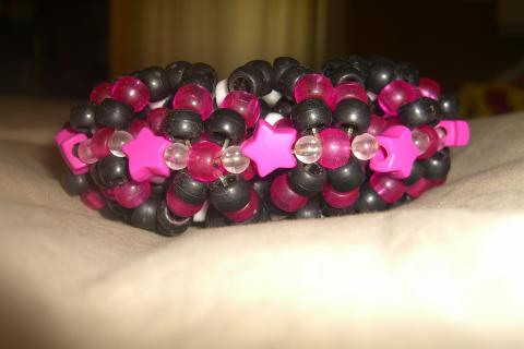 Pink & Black 3D star cuff Photo