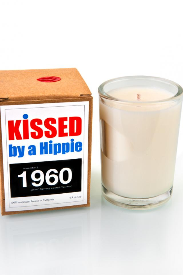 Kissed by a Hippie 1960 Candle  Photo