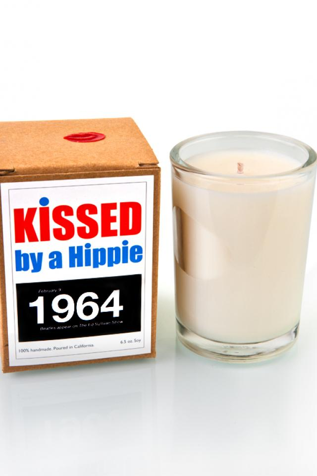 Kissed by a Hippie 1964 Candle  Photo