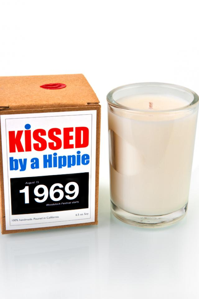 Kissed by a Hippie 1969 Candle  Photo