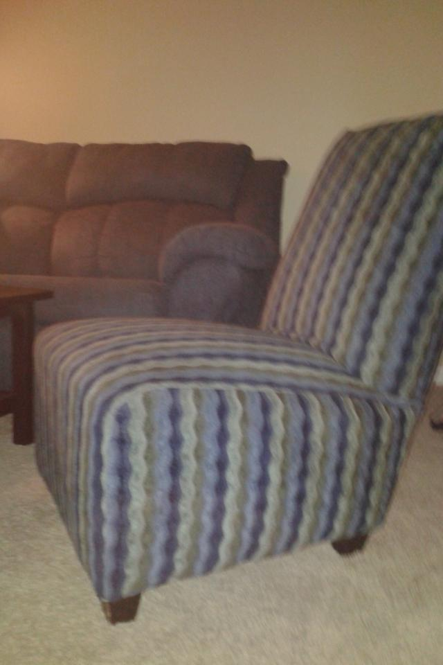 Contempo Patterned Armless Chair Photo