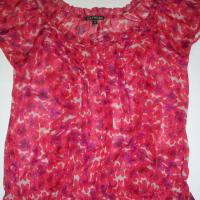 Express Red Floral Blouse Photo